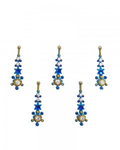 Comet Busters Blue Designer Party Wear Bindi