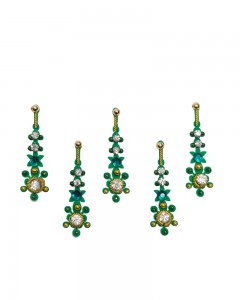Comet Busters Green Designer Party Wear Bindi