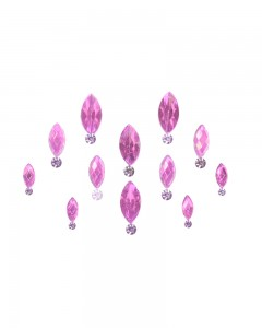 Comet Busters Light Pink Swarovski Crystal Bindis With Diamond