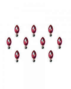 Comet Busters Beautiful Red Swarovski Crystal Bindi With Diamond