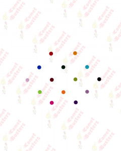 Comet Busters Basic Round Multicolor Bindi (3mm)