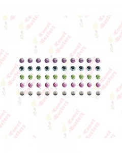 Comet Busters Multicolored Rhinestone Bindis (3 mm)