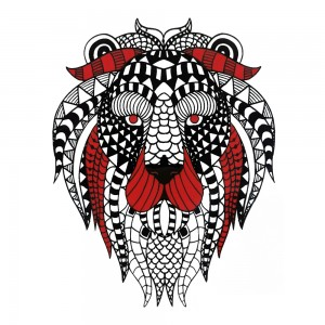 Comet Busters Red and Black Temporary Water Tattoo (BJ134)