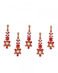 Comet Busters Red Designer Party Wear Bindi