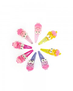 Comet Busters Cute Hair Clips for Girls (Set of 4 Pairs)