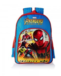 Avengers Infinity War Spiderman Blue School Bag for Children of Age Group 8 + years| Size 18 inch