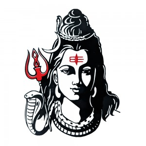 Comet Busters Red and Black Spiritual Shiv Water Temporary Tattoo (BJ129)