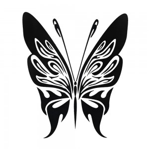 Comet Busters Black Butterfly Temporary Water Tattoo (BJ138)