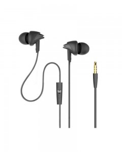 Boat 110 Black Wired Headset  (Black, In the Ear)