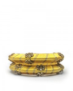 Comet Busters Traditional Yellow Bangles for Women