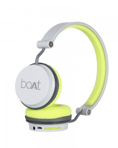 Boat Super Bass Rockerz 410 | Bluetooth On-Ear Headphones with Mic | Grey Green