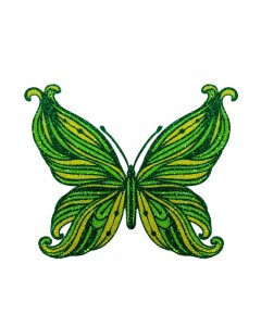 Comet Busters Temporary Glitter Butterfly Tattoo Stick Ons (Green)