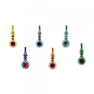 Comet Busters Multicolor Long Bindis With Stone Work (BIN1098)