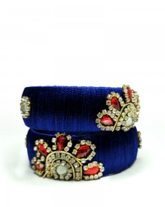 Comet Busters Beautiful Handcrafted Blue Bangle Set