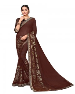 Comet Busters Georgette Saree with Border