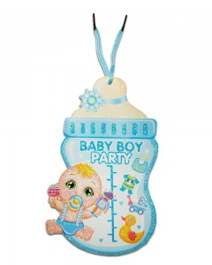 Comet Busters Baby Shower Decorations Baby Boy Blue Wall Hanging (Set of 1)
