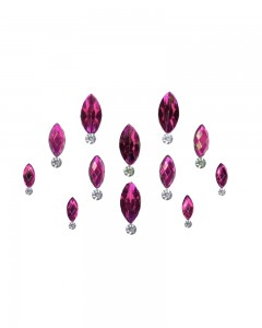 Comet Busters Pink Swarovski Crystal Bindis With Diamond