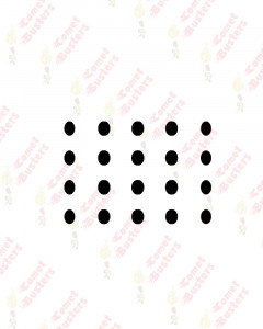 Comet Busters Basic Black Oval Bindis (5 mm)