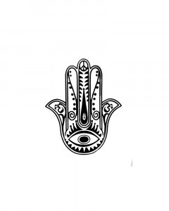 Comet Busters Hamsa Hand With Third Eye Temporary Tattoo