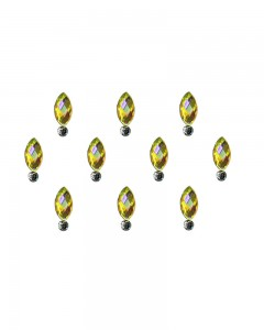 Comet Busters Beautiful Yellow Swarovski Crystal Bindi With Diamond