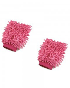 Comet Busters Microfibre Super Mitt Double Sided Pink Cleaning Gloves (2 Pieces)