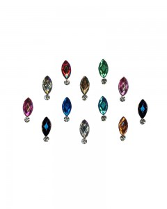 Comet Busters Beautiful Multicolor Swarovski Crystal Bindi With Diamond
