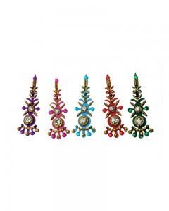 Comet Busters Multi color Designer Bridal Bindi