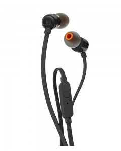 JBL T110 In-Ear Headphones with Mic | Black