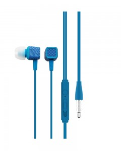 Portronics POR-883 Conch 206 in-Ear Wired Earphone with 3.5mm Audio Jack and Mic | Blue