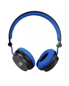 Boat Super Bass Rockerz 400 | Bluetooth On-Ear Headphones with Mic | Black/Blue