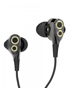 Boat Nirvanaa Deuce Dual Drivers Earphones (Black)
