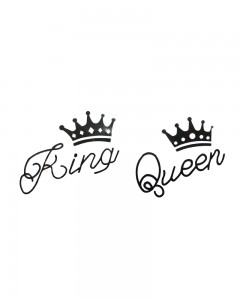 Comet Busters Temporary Couple Tattoo - Lovers (Set of 2) - King & Queen Fashionable Temporary Tattoos Stick On