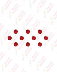 Comet Busters Beautiful Red Velvet Bindi With Red Stone Border (6mm)