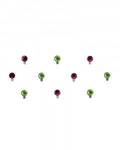 Comet Busters Green and Pink Swarovski Crystal Bindi