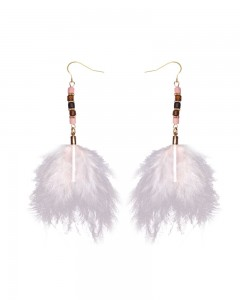Comet Busters Pink Feathers Latest Stylish Long Tassel Earrings for Women & Girls