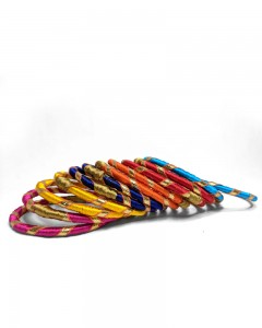 Comet Busters Multi color Handcrafted Bangle Set