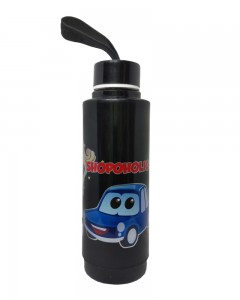 Comet Busters Black Printed Insulated Water Bottle For Kids (600 ML)
