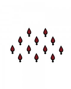 Comet Busters Traditional Maroon Bindi