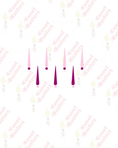 Comet Busters Hot Pink And Light Pink Tilak Bindis With Dots