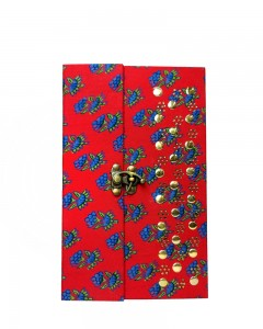 Comet Busters Handicrafts Red Handmade Diary With Latch Closure