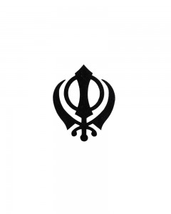 Comet Busters Temporary Tattoo Black Khanda Tattoo Sticker (Sikh Khanda)