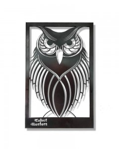 Comet Busters Metal Wall Mounted Hanging CNC Cutting Owl Design Wall Decor (18 inch x 12 inch)