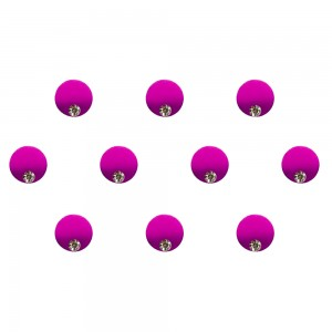 Comet Busters Pink Purple Shaded Ombre Bindis With Silver Stone (6mm) (BIN1273)