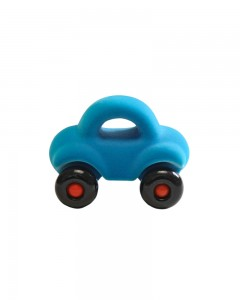 Rubbabu - The Micro Wholedout Car Small (Turquoise Blue)
