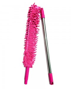 Comet Busters Multipurpose Microfiber Cleaning Duster with Extendable Telescopic Wall Hanging Handle (Pink)