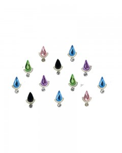 Comet Busters Beautiful Multi Color Swarovski Crystal Bindi With Diamond
