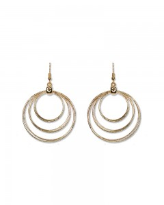 Comet Busters Stylish Round Golden Earrings