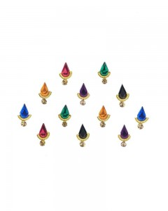 Comet Busters Beautiful Bridal Multicolor Swarovski Crystal Bindi With Diamond