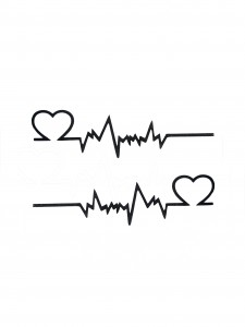 Comet Busters Temporary Couple Tattoo - Heartbeat (Set of 2) - Cute Temporary Tattoos Stick On