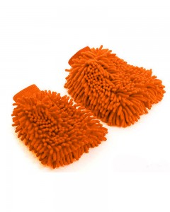 Comet Busters Microfibre Super Mitt Double Sided Orange Cleaning Gloves (2 Pieces)